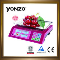Red color ABS plastic digital weighing scales