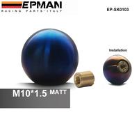 EPMAN -Matt M10 x 1.5 Universal Spherical 5 Speed Manual Car Auto CNC Titanium Shifter Gear Stick Shift Knob for Honda EP-SK0103