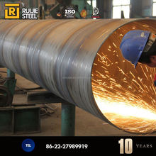 SSAW Spiral Submerged Arc Welded Steel Pipes/steel tube, 3 to 12m Length, 219 to 3500mm Outer Diameter