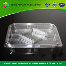 OEM service supply type plastic divided food storage tray