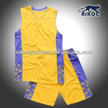 NIKOO newly designed fashion casual basketball wear/basketball uniform