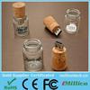2015 wholesale Glass jar bottle usb Wine cork shape USB disk flash drive, Customized glass bottle usb stick