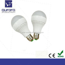 High brightness Low power consumption led bulb vs CFL E27 9W LED bulb AC85-265v