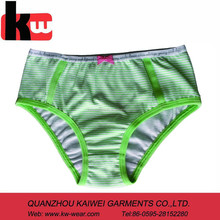 Hot Green Stripe Print Teen Girls Sexy Underwear Panty Photos Wholesales with New Style