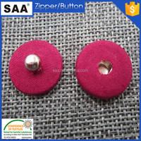 red color fabric press stud button