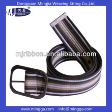 free logo colorful stripes d ring fabric woven belt
