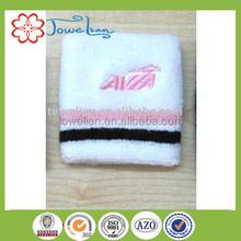 100%cotton embroider satin wristband and sweatband