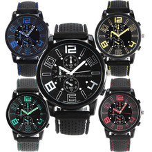 Big Face Rubber Clock V6 watches Men's Silicone Wrist watch sport watch