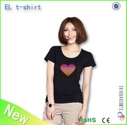 customized led t shirt , led ladies t shirt, christmas gift, new fashion