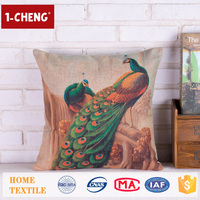 Hot Sale Creative Peacock Pattern Printing Design Cushion,Home Decor Pillow Case,Hand Embroidery Designs