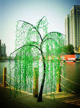 Luxurious handmade outdoor decorative fancy led lighted willow tree hanging decoration for different festivals