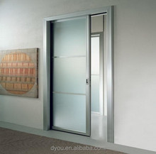 factory price high quality aluminum tempered glass inserts door