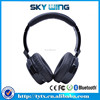 Built-in Microphone with leather ear cushion stereo Bluetooth headset