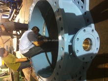 Tianjin OTS Cast iron/ductile iron flanged large butterfly valve