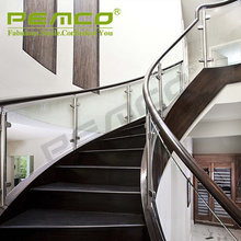 TOP Brand Factory Frameless ASTM Stainless Steel Glass Balustrade