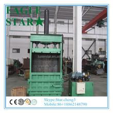 waste hydraulic vertical plastic scrap baler compactor