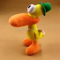 22CM green hat duck mascot dolls pato plush toy