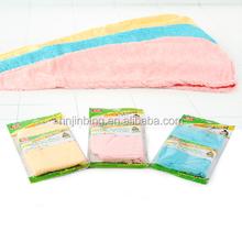 Super absorbent polyester microfiber hair wraps towel hair drying turban towel wraps