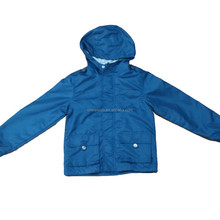 OEM customs hooded boy jacket