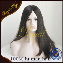 AAAAA Mongolian Virgin Hair Jewish Wig Large Layer, Long Straight Human Hair Wig