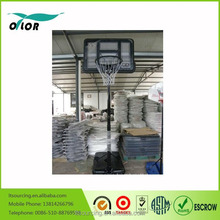 Black quick adjustmen 10' portable basketball stand for outdoor practicing
