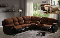 home living room genuine leather sectional recliner and sofa bed