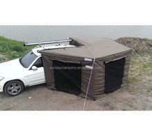 New Design Aluminium Poly carbonate retractable car awning for roof top tent