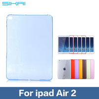 New Arrival Soft Gel TPU Skin Silicone Back Case Cover for iPad Air 2