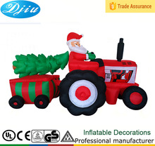 DJ-533 merry christmas tree santa claus Tractor inflatable decor outdoor