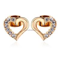 OUXI 2015 Latest sweet heart shaped earring stud 20452