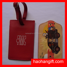 Hand Personalized pvc silicone luggage tag rubber loop
