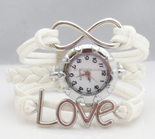 hot sale custom charm wrapped love watch bracelet for woman