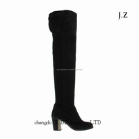 SP035 thigh high boots winter denim boots women sexy boots heel