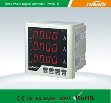 Frame Size 96*96mm Factory Price LED Display AC Three-Phase Digital Ampere Meter, for Industrial Use