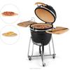 """Auplex factory versatile 21"""" ceramic kamado/barbecue black bbq grills"""