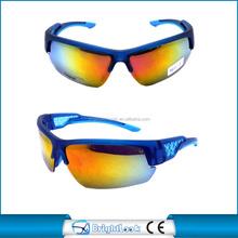 Outdoor sports cycling colorful anti-uv lenses high quality custom sunglasses CE&FDA