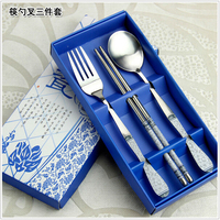 high quality stainless steel gift box packaging dinnerware set china tableware wholesale