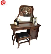 solid wood makeup dressers with mirror