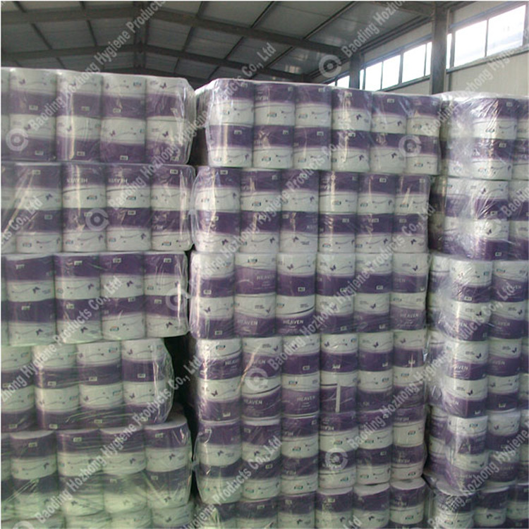 embossed single purple  wrapped bath tissue roll (34)