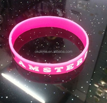 Reflective promotion silicone bracelet with logo