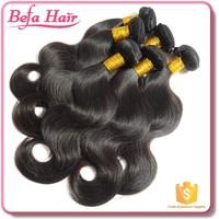 Befa hair 5a grade body wave 100% virgin brazilian hair 4pcs brazilian body wave
