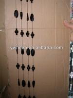 black color various shape design crystal beads curtain