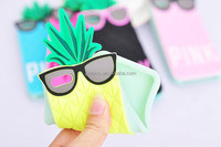 Cartoon Silicone Cell Phone Case ,Ananas Mobile Phone Cover For Iphone 5/5s/6/6+