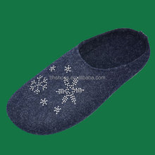 BH096518 injection shoes with felt material felt slipper