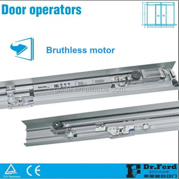 Automatic sensor sliding glass door with access control