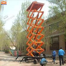 aerial work machine 9m aerial lift/trailing scissor lift