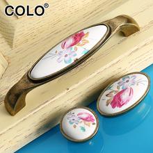 Crack design China porcelain drawer handle