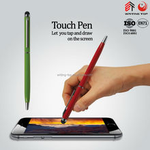 custom logo slim colorful metall touch stylus pen for woman