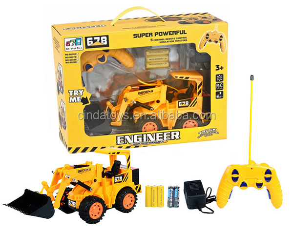 5 Channe Remote Control Forklift Construction Truck ...