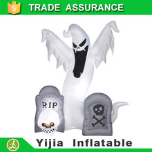 Led light airblown halloween decoration 5ft inflatable ghost w 2 tombstones